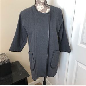 ANTHROPOLOGIE Cartonnier piped zippered jacket